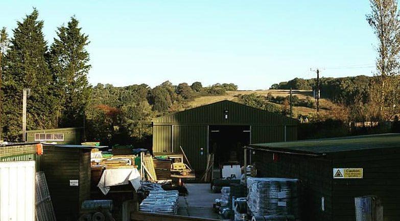Crestala Fencing Centre's yard just outside of Tunbridge Wells, Kent
