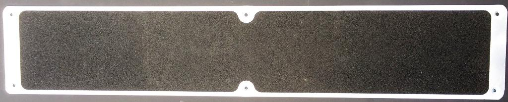 Stainless steel plate with anti slip coating, contains stainless steel screws