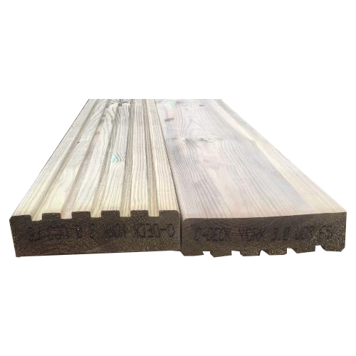 York double sided wooden decking boards.
