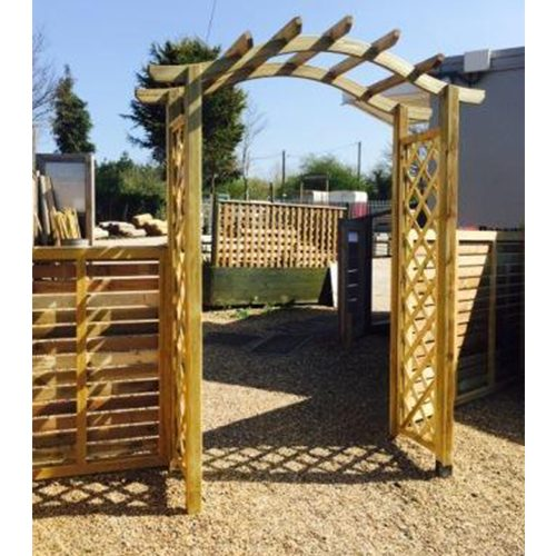 Small Archway with Diamond Trellis Sides