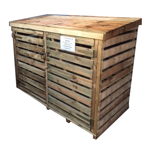 Timber Log Stores with screws, fixings and pre-drilled holes
