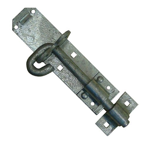 Galvanised Brenton pad Bolt for securing sheds and gates.