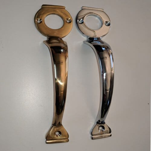 Pull Handle for Long Throw Locks (Brass & Chrome finish)