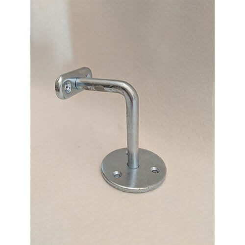 Steel Handrail Bracket - 90mm BZP coated.