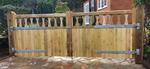 A pair of Crestala bespoke gates fitted by Thorpe Building & Fencing