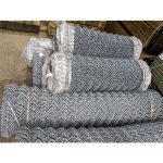 Galvanised Chain link - 0-9m-29 - 25m-82 - 3mm - 50mm - 2-wires