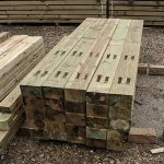 Sawn Treated Softwood Posts for Cleft Rail - 2-10m - 150mm-6-x-75mm-3 - 2 - intermediate-end - flat-top