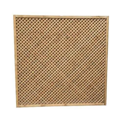 Diamond privacy lattice fence panel