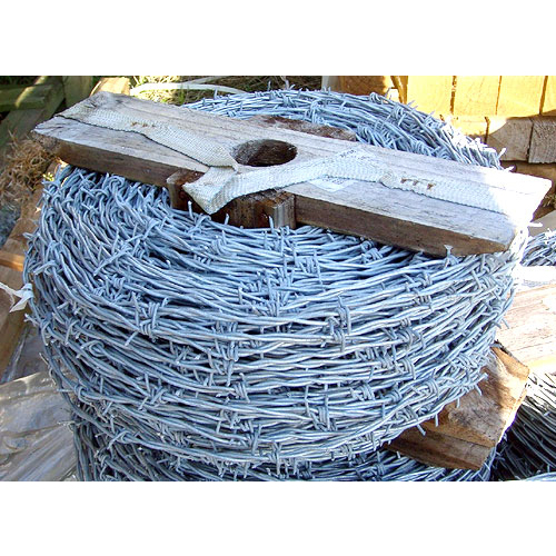 MS Galvanised Barbed Wire two wires with 4 point barbs