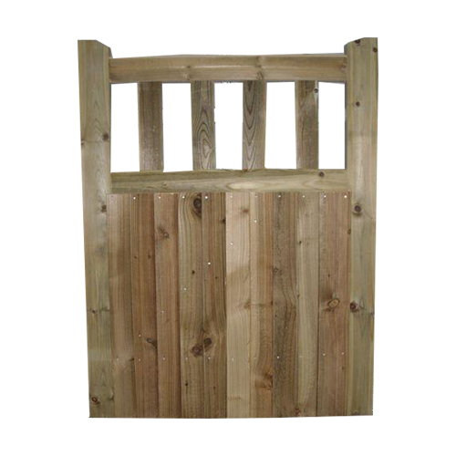Hand made softwood Frant Gates, closeboard with slatted top