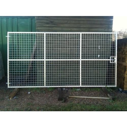 Galvanised Metal Deer Gates with integral sliding bolt