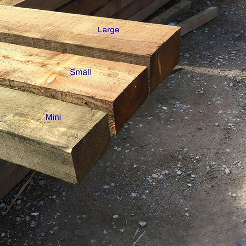 Small, Medium and Large Treated Softwood Sleepers