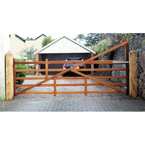 Superior quality, decorative Iroko Blenheim Gate, can be made to special heights and widths
