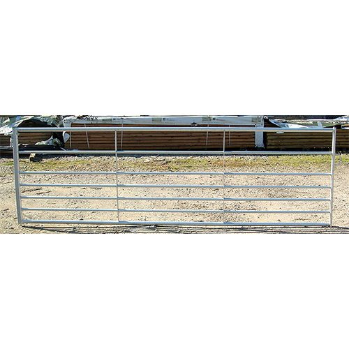 Galvanised 7 bar Metal Field Gate with 2 adjustable gate eyes