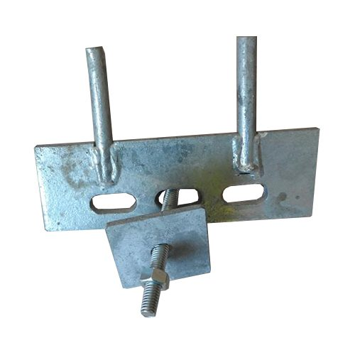 Metal Cleats for attaching Gravel boards to concrete mortised posts