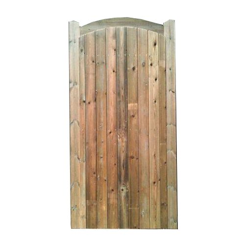 Crestala's hand made Ashurst, curved top rail, TGV softwood gates