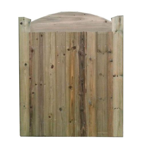 Crestala Blackham domed top, tongue and groove, softwood gates