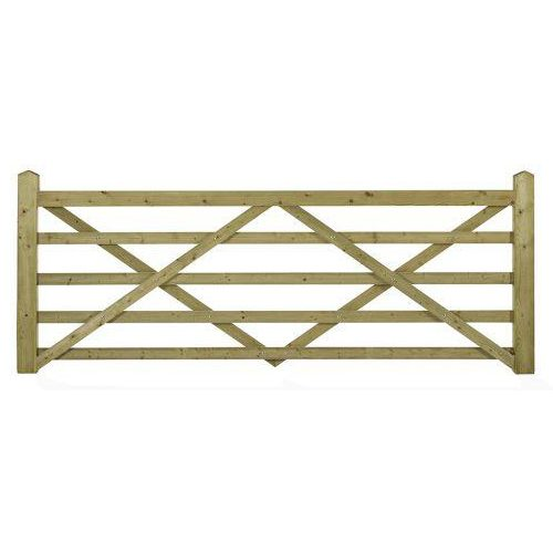 Popular Somerfield 5 Bar Wooden Field Gate