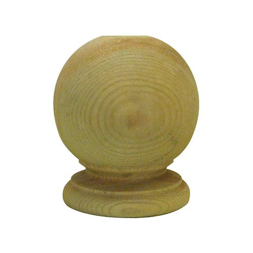 Treated Wooden Ball Post Finial