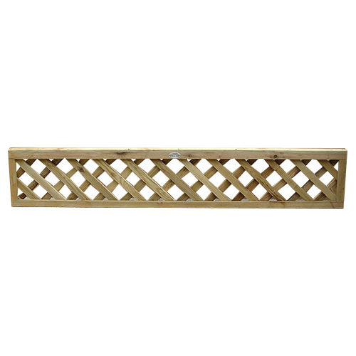 Diamond Trellis - 305mm high Standard Panel, includes capping