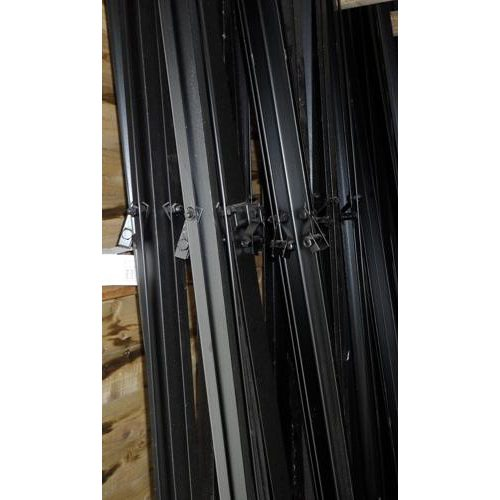 Black Angle Iron Posts