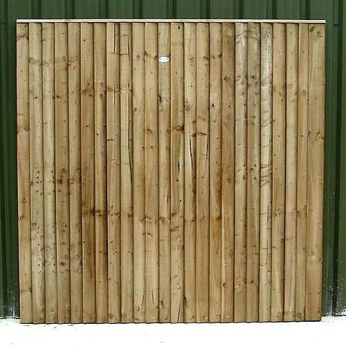 Front of Crestala's hand made Closeboard pressure treated timber Panel, made to order