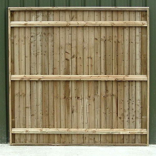 Back of Crestala's hand made Closeboard pressure treated timber Fence Panel, made to order