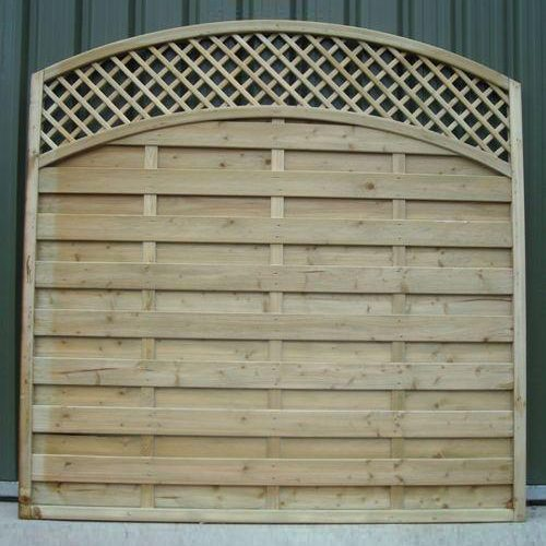 European style Arched Top Lattice timber Panel