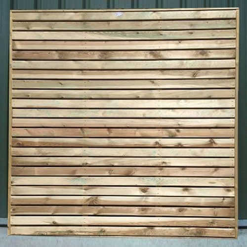 Crestala's hand made Contemporary Fence Panel, made to order, pressure treated timber