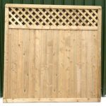 Tongue and Groove Panel with a Lattice Top - 1-8m-510 - 1-8m-59