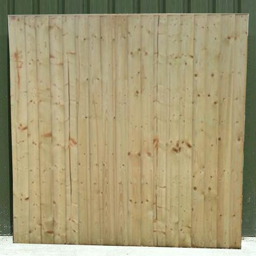 Crestala's hand made Standard Closeboard pressure treated timber Fence Panel, made to order