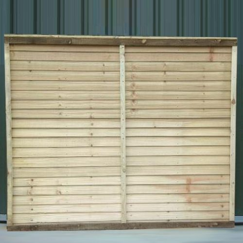 Super Straight-Edge timber Fence Panel