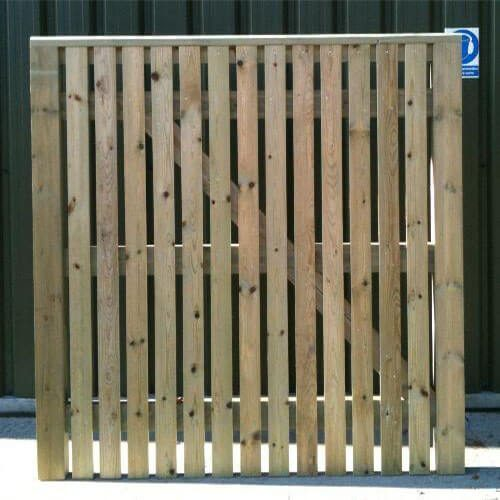A single leaf Edenbridge Palisade entrance gate with capping.