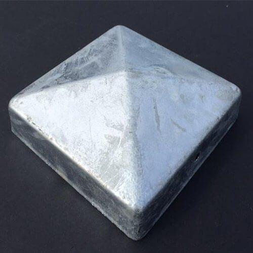 Galvanised Metal Pyramid Finial Post Cap