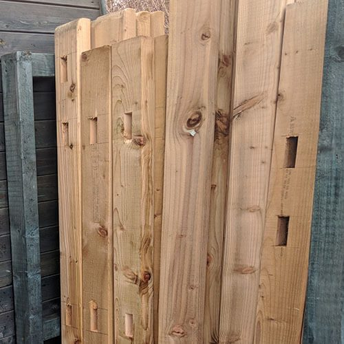 Mortised Plates for Closeboard and Palisade Fencing