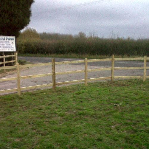 Sawn Post & Rail Fencing