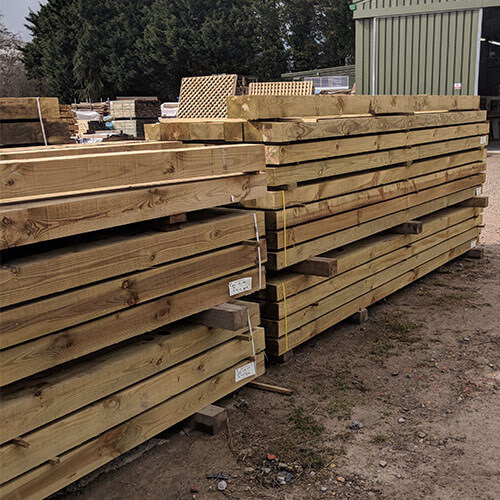 "Various Posts (5"" x 4"" and 4"" x 4"") at our yard in Tunbridge Wells"