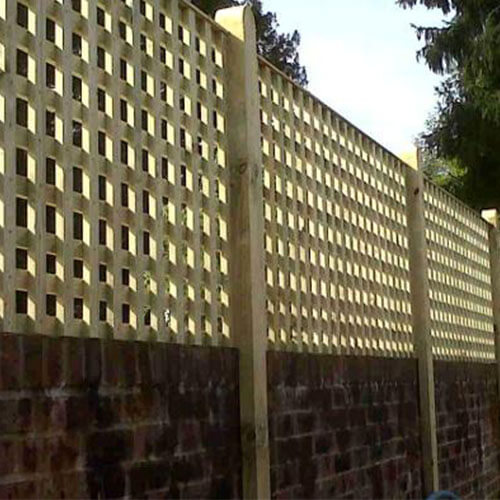 Crestala Square Trellis - close spacing,standard panels mounted on a wall