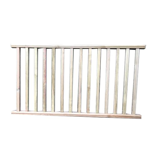 Balustrade panels for around decked areas