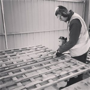 Trellis being made in our onsite workshop