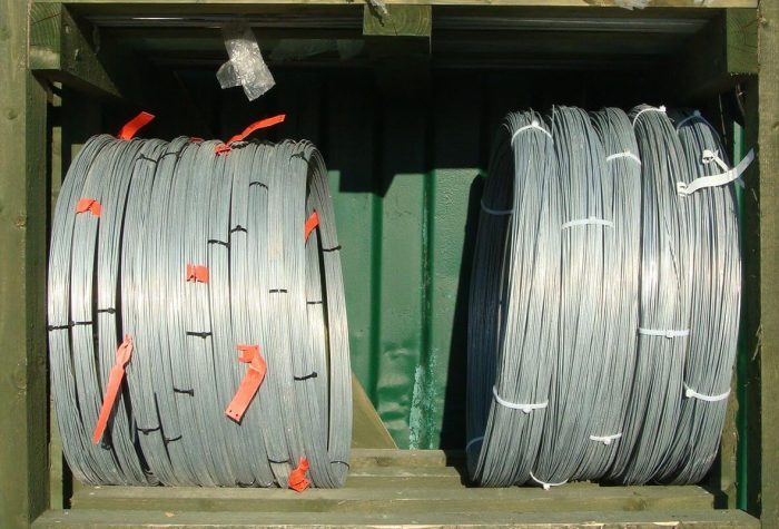 5Kg and 25Kg rolls of line wire.