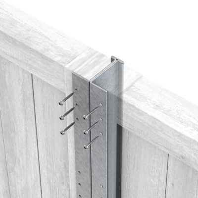 Galvanised DuraPost with panels
