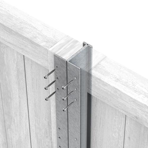 Galvanised DuraPost with panels