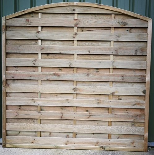 Arched top horizontal fence panel