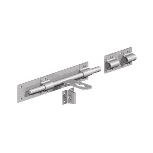 Lockable surface bolt for securing pairs of gates