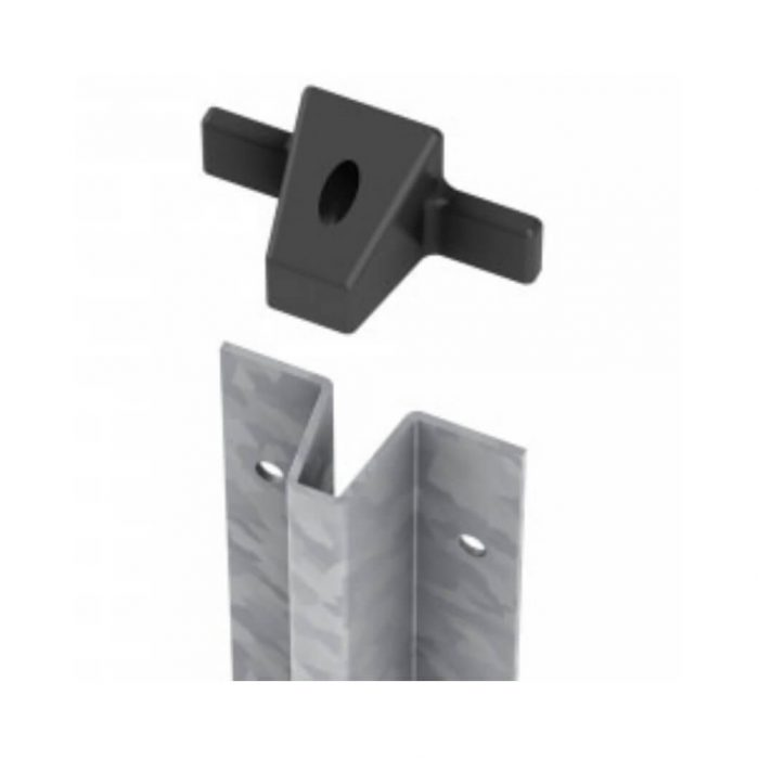 FenceMate repair spur for use with rotten wooden posts.